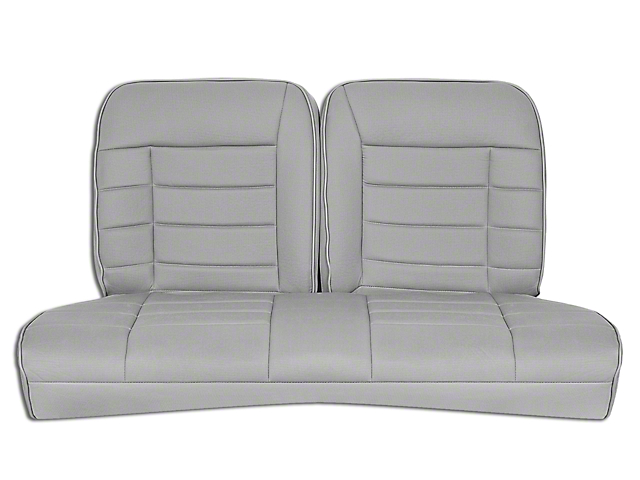 Corbeau Rear Seat Cover - Gray Cloth (79-93 Coupe)