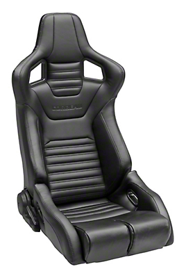 Corbeau Sportline RRB Reclining Seat - Black Cloth/Black Carbon Fiber Vinyl - Pair (79-19 All)