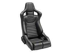 Corbeau Sportline RRB Reclining Seats - Black Cloth/Black Carbon Fiber Vinyl - Pair (79-19 All)