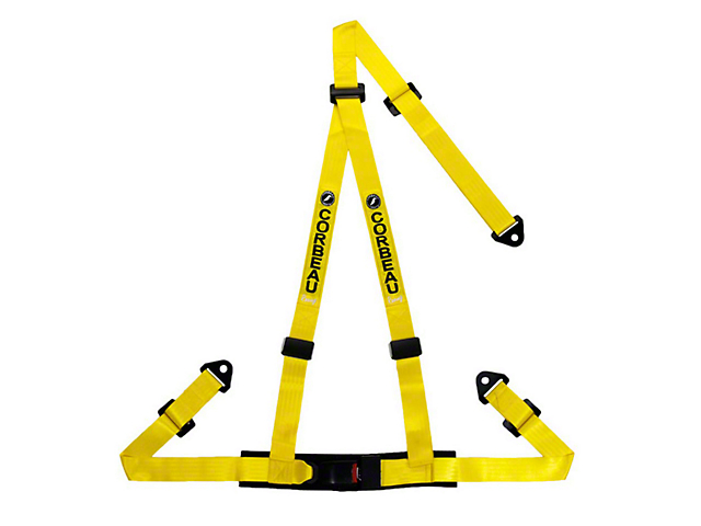 Corbeau 2 in. 3-Point Bolt-In Harness Belt - Yellow (79-18 All)