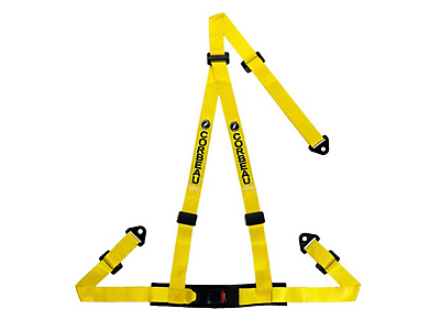 Corbeau 2 in. 3-Point Bolt-In Harness Belt - Yellow (79-17 All)