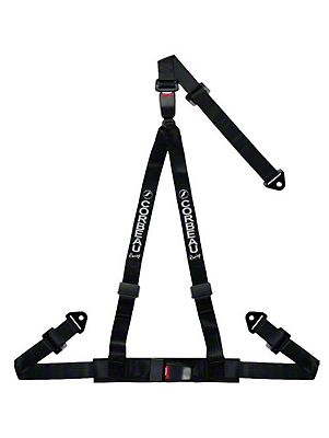Corbeau 2 in. 3-Point Double Release Snap-In Harness Belt - Black (79-17 All)