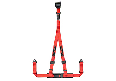 Corbeau 2 in. 3-Point Retractable Harness Belt - Red (79-19 All)