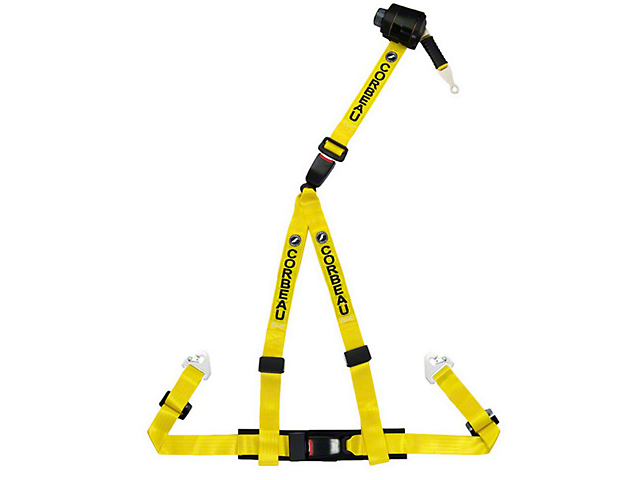 Corbeau 2 in. 3-Point Retractable Harness Belt - Yellow (79-18 All)