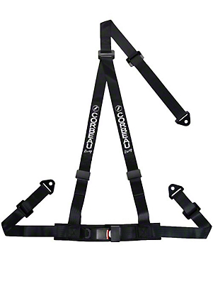 Corbeau 2 in. 3-Point Snap-In Harness Belt - Black (79-17 All)