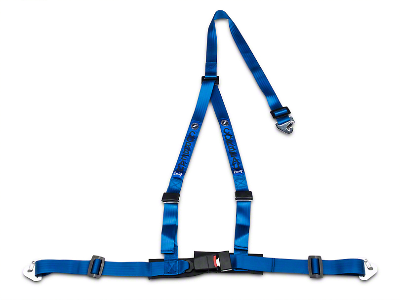 Corbeau 2 in. 3-Point Snap-In Harness Belt - Blue (79-17 All)