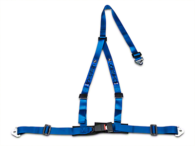 Corbeau 2 in. 3-Point Snap-In Harness Belt - Blue (79-18 All)