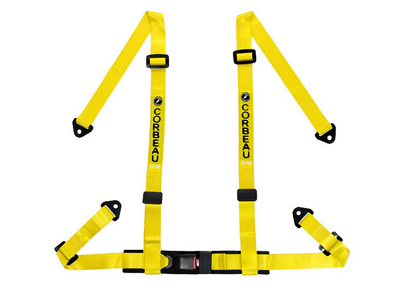 Corbeau 2 in. 4-Point Bolt-In Harness Belt - Yellow (79-17 All)