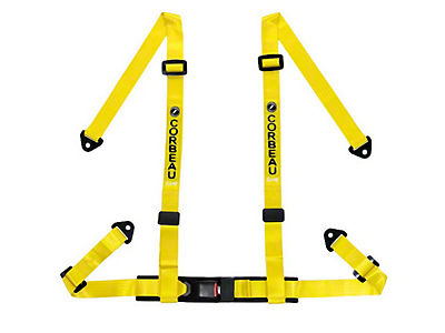 Corbeau 2 in. 4-Point Bolt-In Harness Belt - Yellow (79-18 All)
