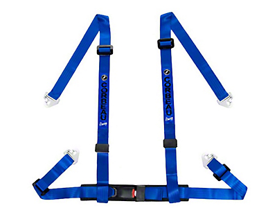Corbeau 2 in. 4-Point Snap-In Harness Belt - Blue (79-18 All)