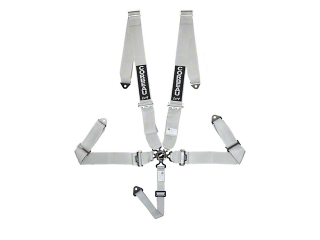 Corbeau 3 in. 5-Point Camlock Harness Belt - Silver (79-18 All)