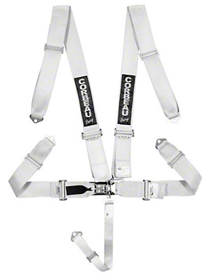 Corbeau 3 in. 5-Point Latch & Link Harness Belt - Silver (79-17 All)