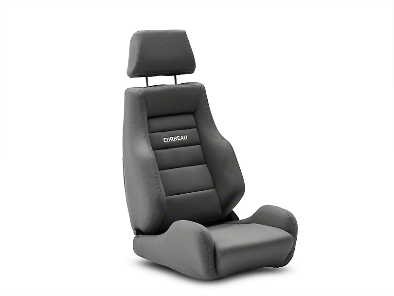Corbeau GTS II Reclining Seats - Gray Cloth - Pair (79-19 All)