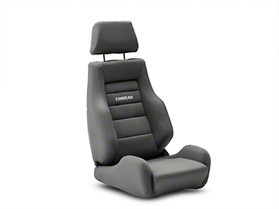 Corbeau GTS II Reclining Seat - Gray Cloth (79-18 All)