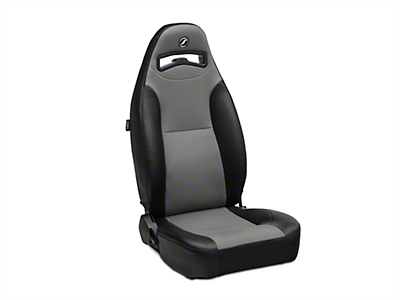 Corbeau Moab Reclining Seat - Black Vinyl/Gray Cloth - Pair (79-18 All)