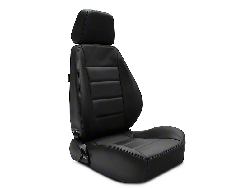 Corbeau Sport Reclining Seats - Black Leather - Pair (79-19 All)