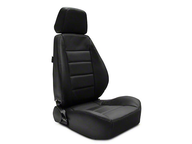 Corbeau Sport Reclining Seats - Black Leather - Pair (79-20 All)