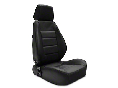 Corbeau Sport Reclining Seat - Black Leather - Pair (79-19 All)