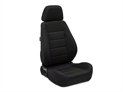 Corbeau Sport Seat Reclining Seat - Black Cloth - Pair (79-17 All)