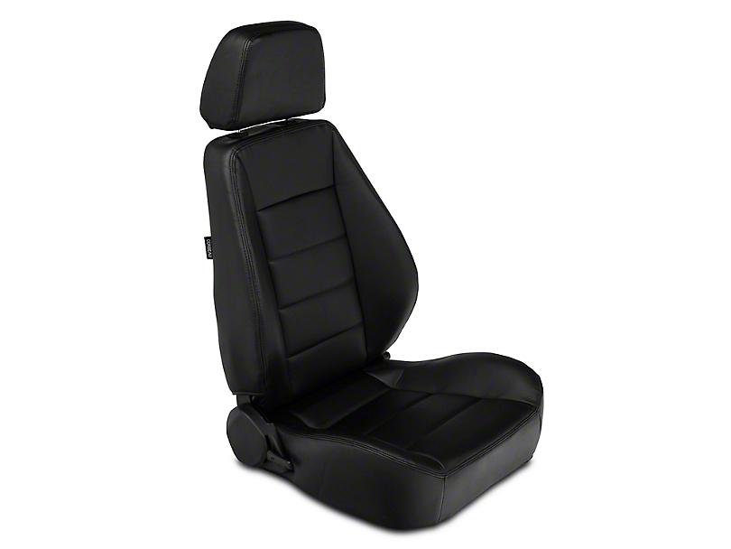 Corbeau Sport Seat Reclining Seat - Black Vinyl - Pair (79-18 All)