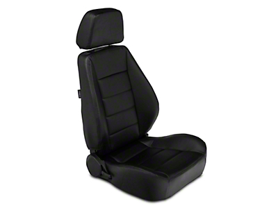 Corbeau Sport Seat Reclining Seat - Black Vinyl - Pair (79-17 All)
