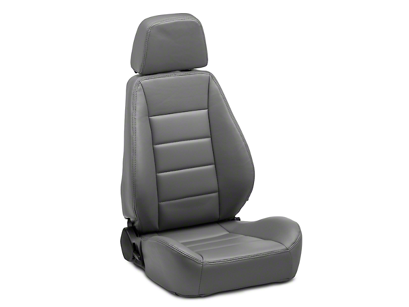 Corbeau Sport Seat Reclining Seat - Gray Vinyl - Pair (79-19 All)