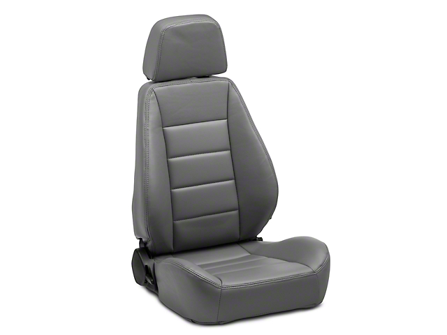 Corbeau Sport Reclining Seats - Gray Vinyl - Pair (79-20 All)