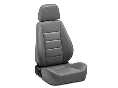 Corbeau Sport Seat Reclining Seat - Gray Vinyl - Pair (79-18 All)