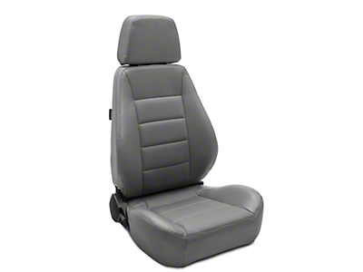 Corbeau Sport Seat Reclining Seat - Grey Vinyl/Cloth - Pair (79-18 All)