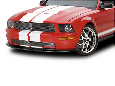 Cervini's Brushed Upper Billet Grille w/ Cobra Logo (05-09 GT)