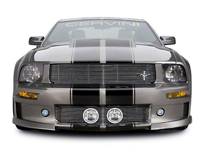 Cervini's Black Upper Billet Grille w/ Tri-Bar Pony Logo (05-09 GT)