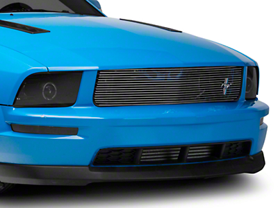 Cervini's Brushed Upper Billet Grille w/ Tri-Bar Pony Logo (05-09 GT)