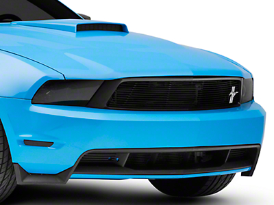 Cervini's Black Upper Billet Grille w/ Tri-Bar Pony Logo (10-12 GT)