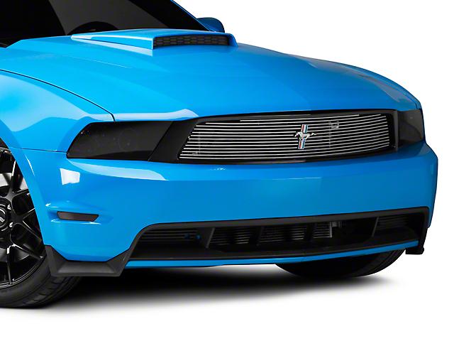 Cervini's Brushed Upper Billet Grille w/ Tri-Bar Pony Logo (10-12 GT)