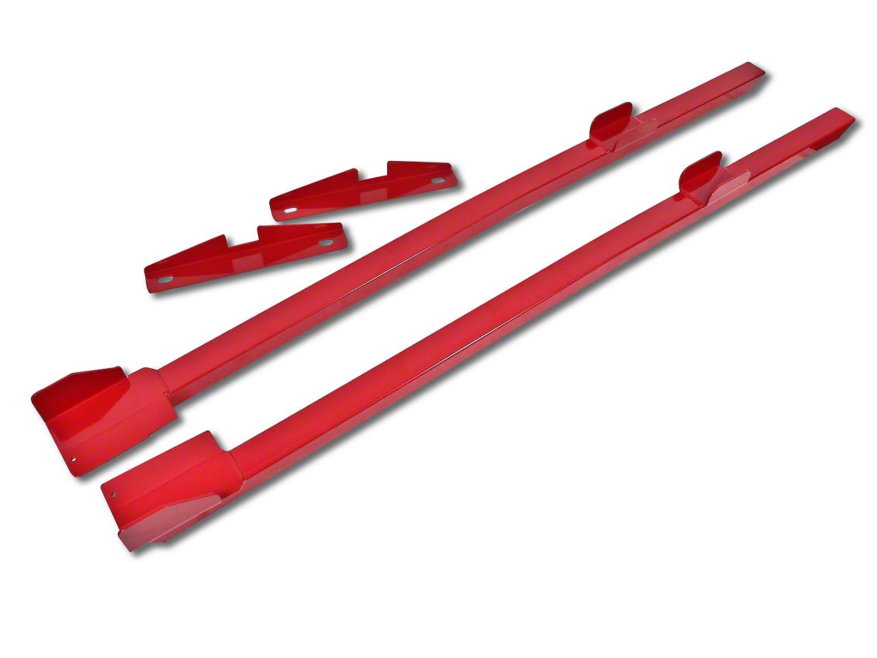 BMR Weld-on Tubular Subframe Connectors - Hammertone (94-04 Coupe)