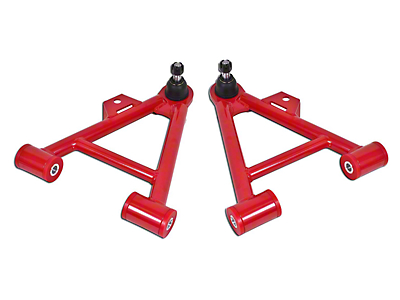 BMR Non-Adjustable Front Lower Coilover A-Arms - Poly Bushings - Standard Ball Joint - Hammertone (79-93 All)