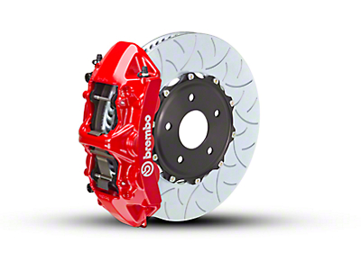 Brembo GT Series 6-Piston Front Brake Kit - Type 3 Rotors - Red (15-19 EcoBoost, V6)