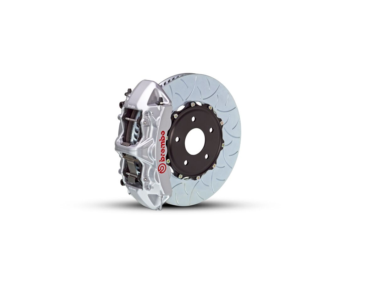 Brembo GT Series 6-Piston Front Big Brake Kit w/ Type 3 Slotted Rotors -  Silver Calipers (15-20 EcoBoost, V6)