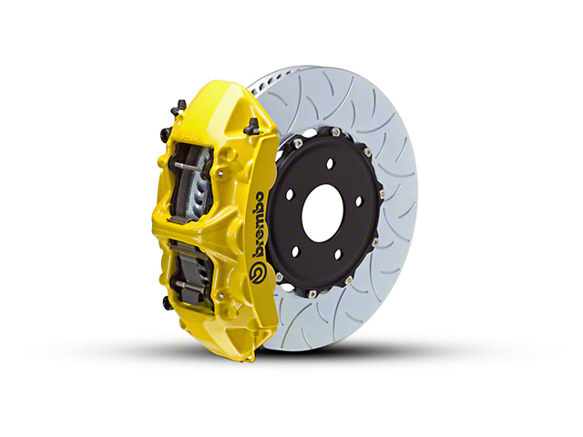 Brembo GT Series 6-Piston Front Brake Kit - Type 3 Rotors - Yellow (15-18 EcoBoost, V6)