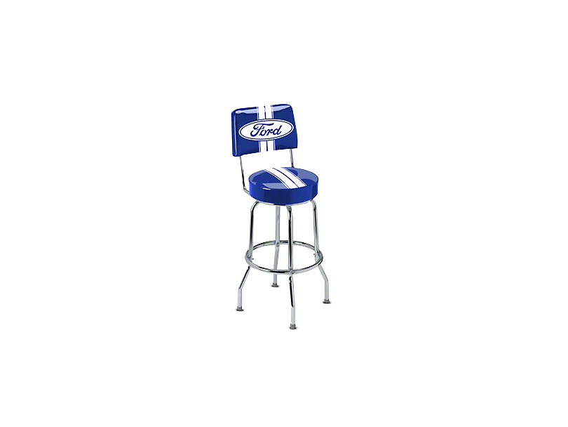 Ford Stripe Backrest Bar Stool