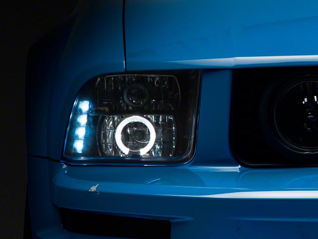 Halo Projector Headlights; Black (05-09 GT, V6 w/ Halogen Headlights)