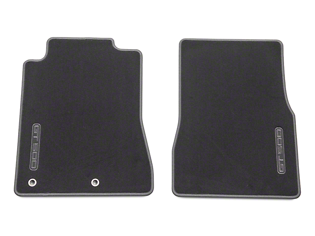 Ford Front Floor Mats with GT500 Logo; Charcoal (2010 GT500)