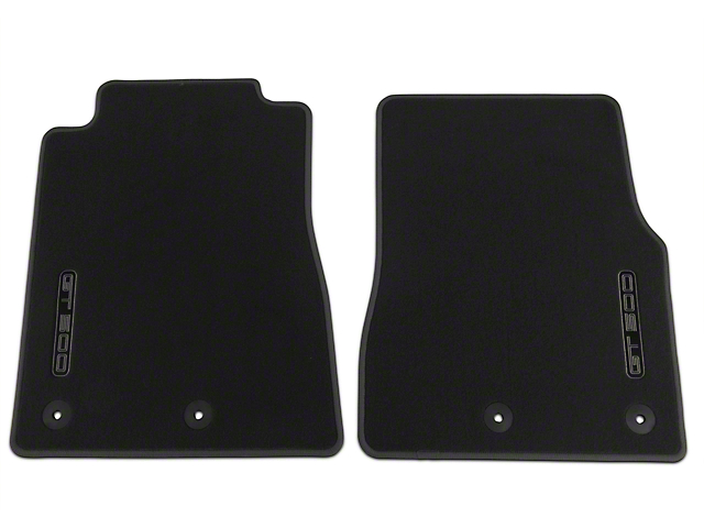 Ford Front Floor Mats with GT500 Logo; Charcoal (13-14 GT500)