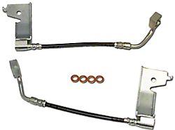 J&M Stainless Steel Teflon Brake Lines; Rear (94-95 GT, Cobra)