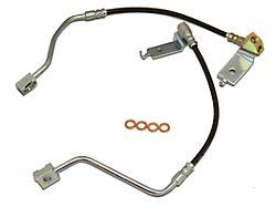 J&M Stainless Steel Teflon Brake Hose Kit; Clear Outer Cover; Rear (96-98 GT, Cobra)