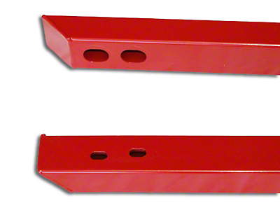 J&M Full Length Jacking Rails - Red (15-19 Convertible)