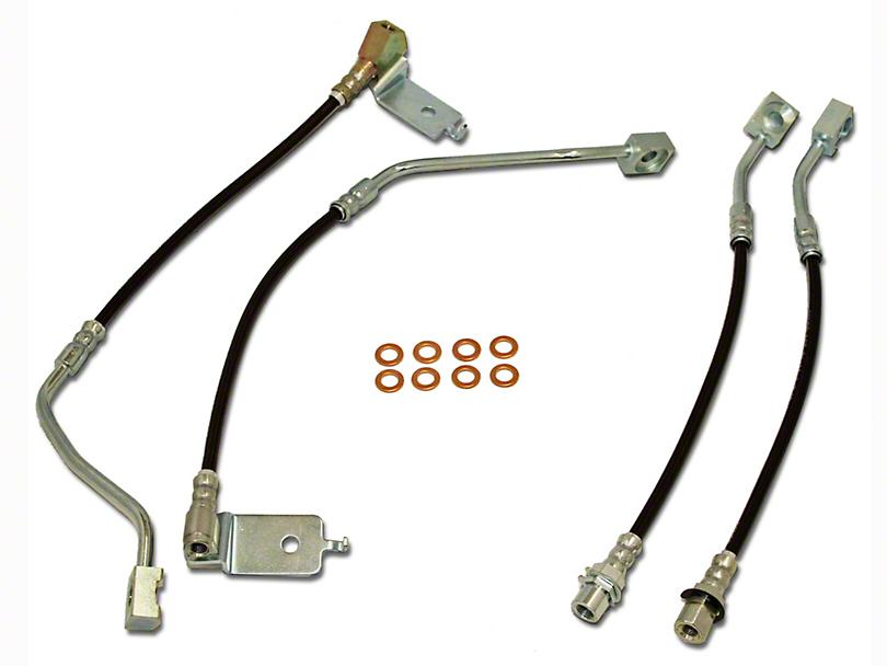 J&M Stainless Steel Telfon Brake Lines - Front & Rear (96-98 GT)