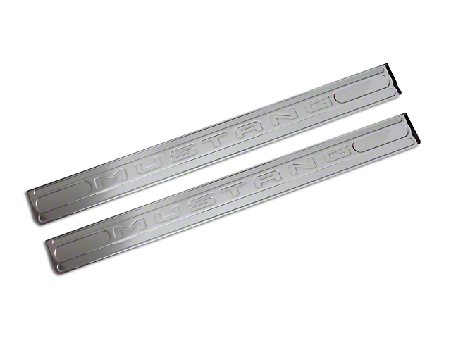Billet Aluminum Door Sill Plates - Chrome (05-14 All)