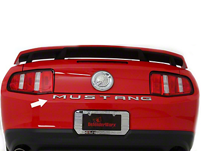 Defenderworx Chrome MUSTANG Trunk Letters (79-17 All)