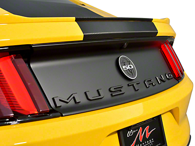 Defenderworx Matte Black MUSTANG Trunk Letters (79-17 All)